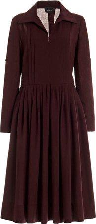 Akris Wool Midi Shift Dress