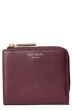 kate spade new york small leather bifold wallet | Nordstrom