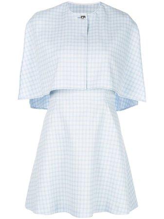 Sara Battaglia Cape Style Mini Dress - Farfetch