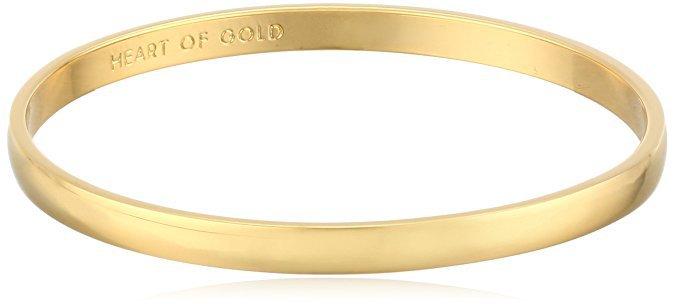 "Amazon.com: Kate Spade New York Idiom Collection Heart of Gold Bangle Bracelet, 7.75"": Clothing"