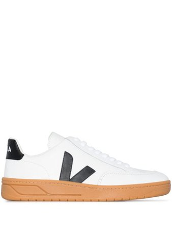 Veja V-12 low-top leather sneakers