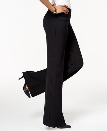 Style & Co Stretch Wide-Leg Pants, Created for Macy's & Reviews - Pants & Leggings - Women - Macy's