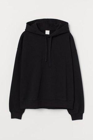 Cotton Hoodie - Black