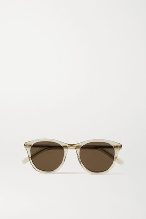 Beige Round-frame acetate sunglasses | SAINT LAURENT | NET-A-PORTER