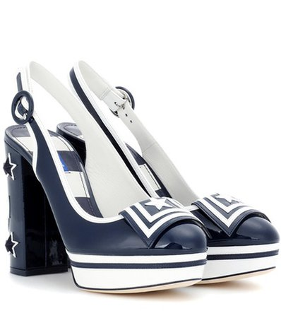 Vally patent leather pumps