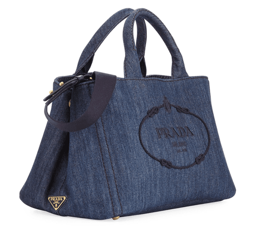Spring 2018 Prada Large Denim Tote