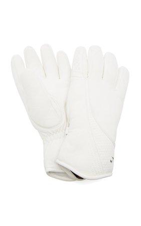 Bogner Meli Embossed Leather Ski Gloves