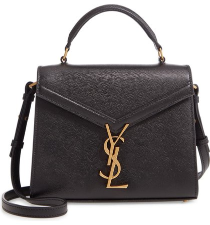 Saint Laurent Mini Cassandra Leather Top Handle Bag | Nordstrom