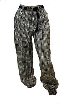 black brown checked pants