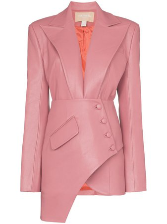 Matériel Asymmetric Faux Leather Blazer | Farfetch.com