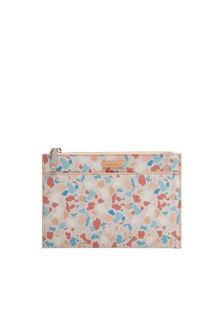 MANGO Geometric print cosmetic bag