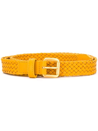 Bottega Veneta Intrecciato Leather Belt Aw20 | Farfetch.Com