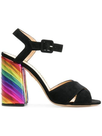 Charlotte Olympia rainbow heel pumps £339 - Shop SS19 Online - Fast Delivery, Free Returns