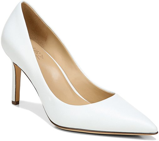 Women's Pumps WHITE - White Anna Leather Pump - Women