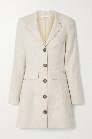 Beige Aaron linen mini dress   Reformation   NET-A-PORTER