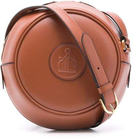Logo-Patch Round Crossbody Bag
