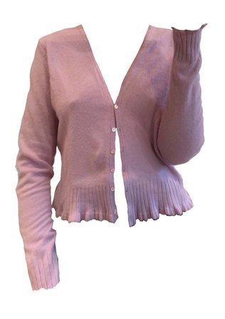 pastel pink cardigan