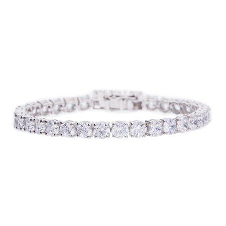 12ct Diamond 9K White Gold Tennis Bracelet 8inch 4mm – MJJ Exclusive
