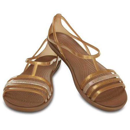 Ladies Crocs™ Isabella Strappy Sandals- Bronze