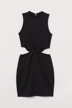 Cut-out Dress - Black