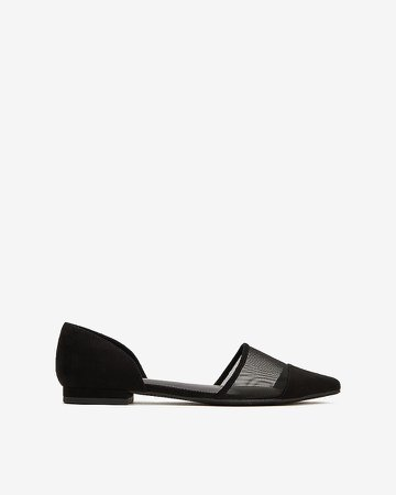 Pointed Toe Mesh Flats