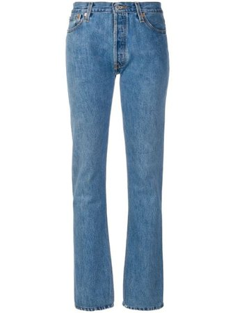 RE/DONE RE/DONE x Levi's Straight Leg Jeans - Farfetch
