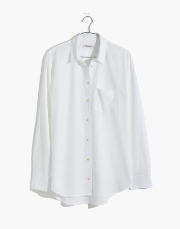 white poplin shirt | Madewell