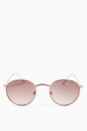 METRO Mirror Round Sunglasses | Topshop