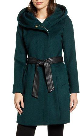 Belted Asymmetrical Wool Coat