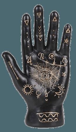 Black Palmistry Hand Fortune Telling Palm   Decorist