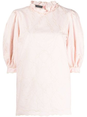 Shop pink Alberta Ferretti puff-sleeve blouse with Express Delivery - Farfetch
