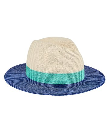 Eugenia Kim | Lillian Striped Straw Fedora | INTERMIX®