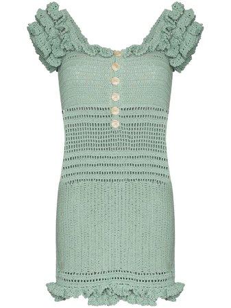 She Made Me Saachi Off-The-Shoulder Crochet Dress | Farfetch.com