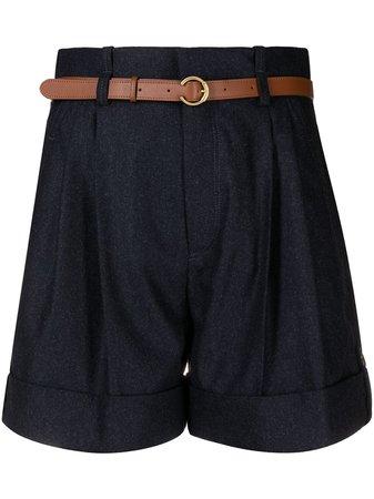Chloé, high-waist belted shorts