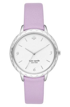 kate spade new york morningside leather strap watch, 38mm | Nordstrom