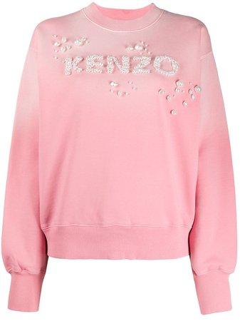 Kenzo Embellished Logo Sweatshirt - Farfetch