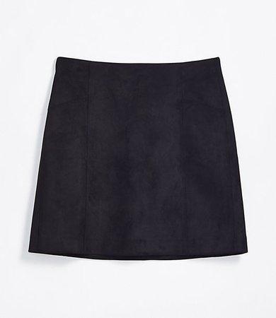 Petite Faux Suede Shift Skirt