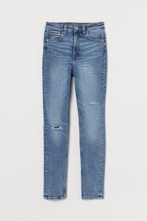 Vintage Skinny High Jeans - Blue