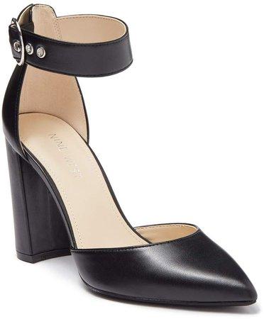 Aloni Ankle Strap Leather Pump