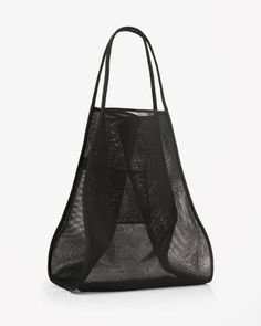 See-through bag black