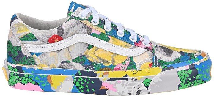 X Vans Tulipes Print Old Skool Sneakers