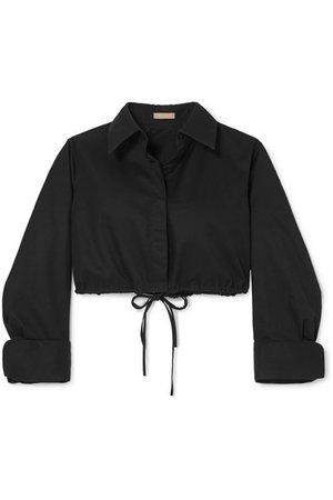 Alaïa | Cropped cotton-gabardine shirt | NET-A-PORTER.COM