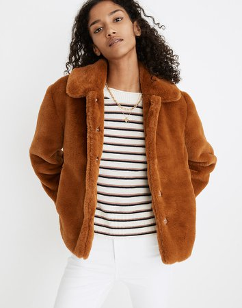 Faux-Fur Crop Coat