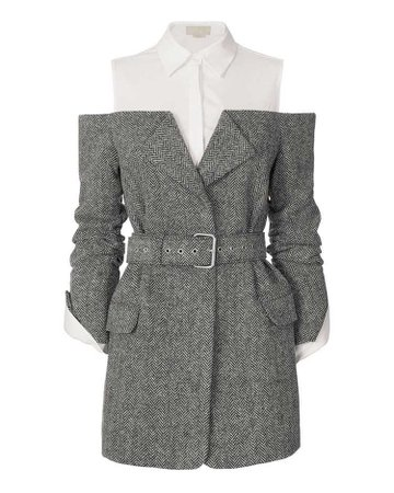 Monse Belted Herringbone Jacket