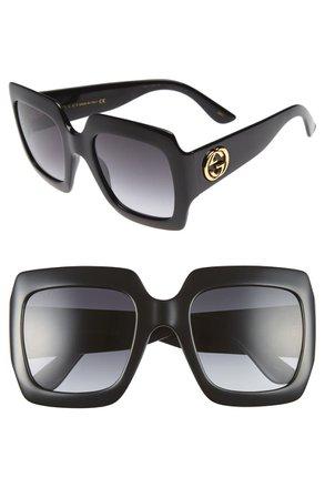 Gucci 54mm Square Sunglasses   Nordstrom