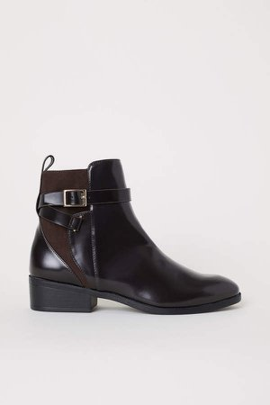 Boots with Straps - Brown