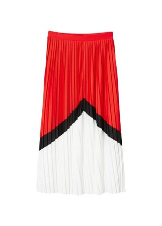 MANGO Combined pleated skirt