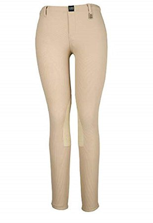Amazon.com : Devon Aire Women's All-Pro Pull-On Beige Riding Breeches : Clothing