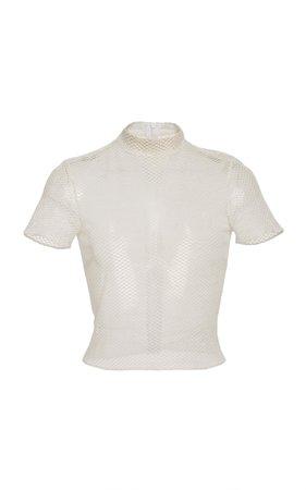 Wera Short Sleeve Sheer Top by Alexis | Moda Operandi