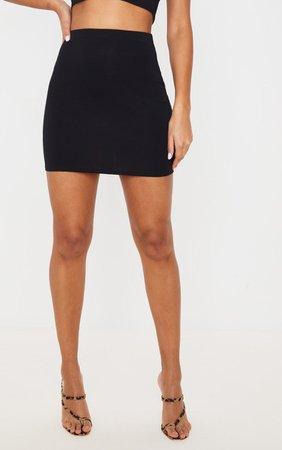 Black Ultimate Jersey Mini Skirt   PrettyLittleThing USA